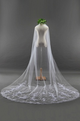 Bridal veil long | Long veil with lace_4