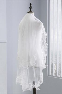 Bridal veil with lace | Veil Bride Short_1