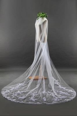 Bridal veil long | Long veil with lace_3