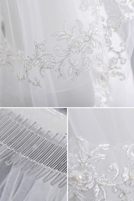Veil with lace | Bridal veil short_4