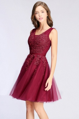 Simple evening dress wine red | Cocktail dresses lace cheap_14