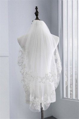 Veil with lace | Bridal veil short_3