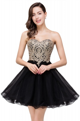 Cocktail dresses black | Evening dresses short prom dresses_5