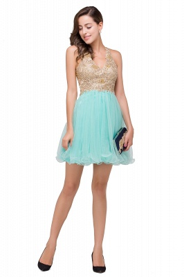 Cocktail dresses mint green | Short evening dresses online_9