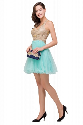 Cocktail dresses mint green | Short evening dresses online_7