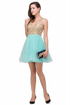 Cocktail dresses mint green | Short evening dresses online_10