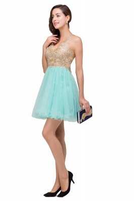 Cocktail dresses mint green | Short evening dresses online_8