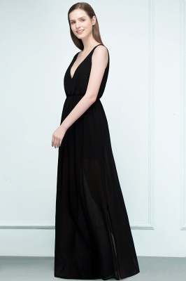 Simple evening dresses long black | Evening wear online_6