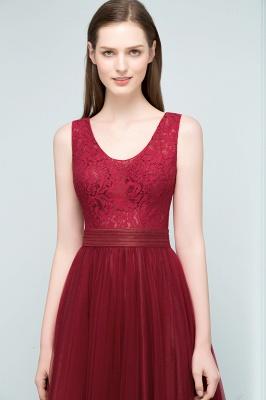 Burgundy prom dresses | Evening dress long V neckline_6