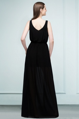 Simple evening dresses long black | Evening wear online_3
