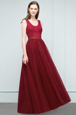 Burgundy prom dresses | Evening dress long V neckline_7