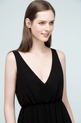 Simple evening dresses long black | Evening wear online_9