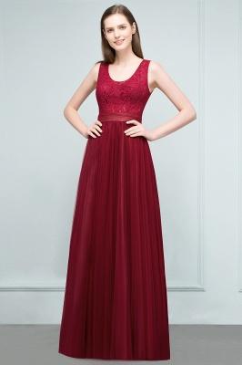 Burgundy prom dresses | Evening dress long V neckline_1