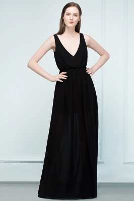 Simple evening dresses long black | Evening wear online_1