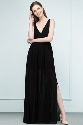 Simple evening dresses long black | Evening wear online_4