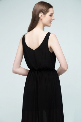 Simple evening dresses long black | Evening wear online_5