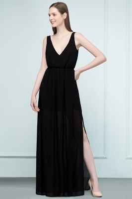 Simple evening dresses long black | Evening wear online_7
