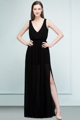 Simple evening dresses long black | Evening wear online_8
