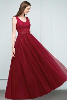 Burgundy prom dresses | Evening dress long V neckline_4