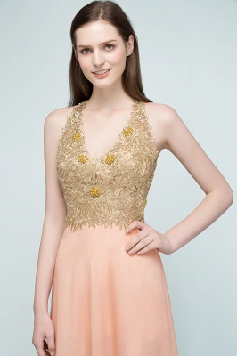 Cheap Evening Dresses Long V Neck | Evening dress with lace_7