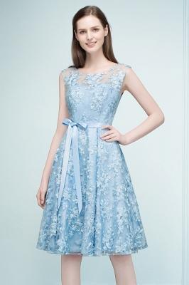 Cocktail dresses short | Blue lace prom dresses_4