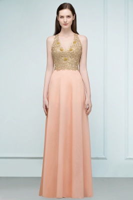 Cheap Evening Dresses Long V Neck | Evening dress with lace_8