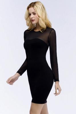 Festliche Kleidung Damen | Cocktailkleider Kurz Schwarz_8