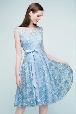 Cocktail dresses short | Blue lace prom dresses_6