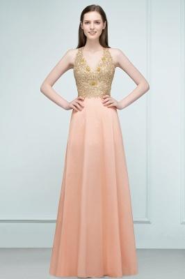 Günstige Abendkleider Lang V Ausschnitt | Abendkleid mit Spitze_5