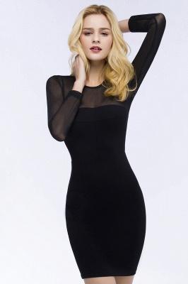 Festliche Kleidung Damen | Cocktailkleider Kurz Schwarz_5