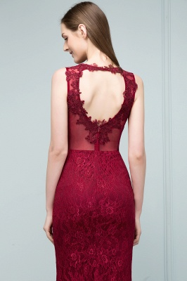 Red Prom Dresses Long Cheap | Evening dresses with lace_9