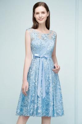 Cocktail dresses short | Blue lace prom dresses_8