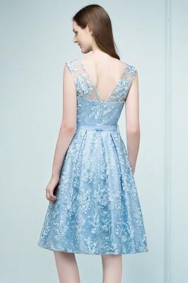 Cocktail dresses short | Blue lace prom dresses_3