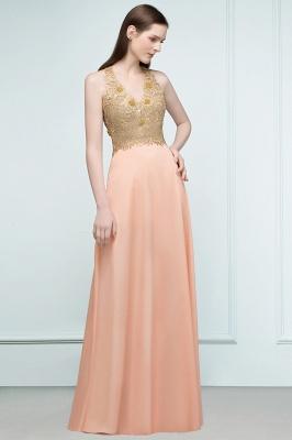 Günstige Abendkleider Lang V Ausschnitt | Abendkleid mit Spitze_2