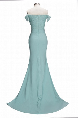 Mint Green Bridesmaid Dresses Long With Lace Mermaid Dresses For Bridesmaids_4