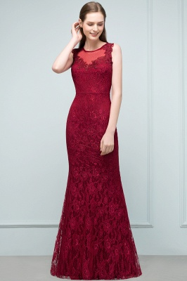Red Prom Dresses Long Cheap | Evening dresses with lace_5