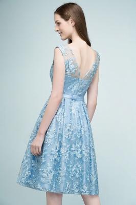 Cocktail dresses short | Blue lace prom dresses_5