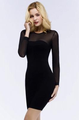 Festliche Kleidung Damen | Cocktailkleider Kurz Schwarz_6