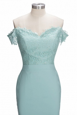 Mint Green Bridesmaid Dresses Long With Lace Mermaid Dresses For Bridesmaids_3