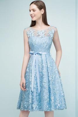 Cocktail dresses short | Blue lace prom dresses_7