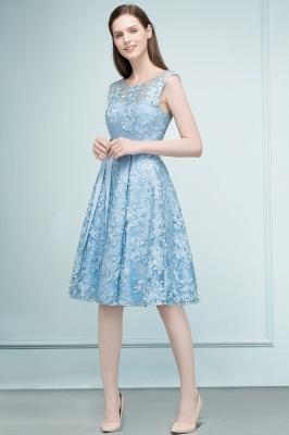 Cocktail dresses short | Blue lace prom dresses_1