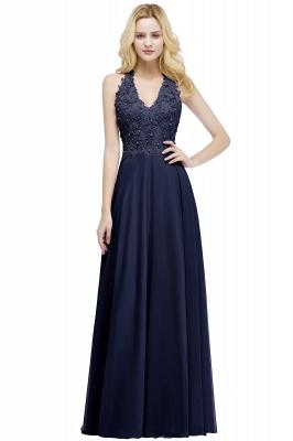 Evening dresses long V neckline | Pink prom dresses_4