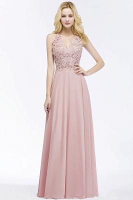 Abendkleider Lang V Ausschnitt | Abiballkleider Rosa_10
