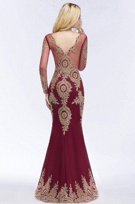 Red evening dresses with sleeves | Long glitter prom dresses_4