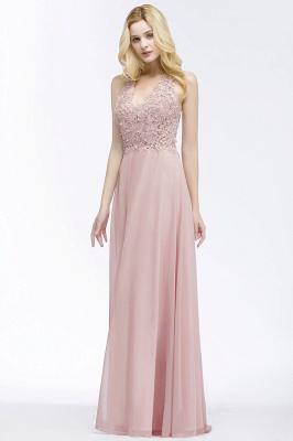 Abendkleider Lang V Ausschnitt | Abiballkleider Rosa_7