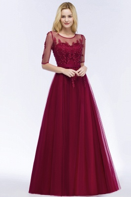 Evening dresses with sleeves | Prom dresses long cheap_8