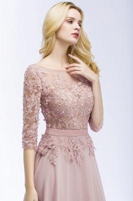 Beautiful bridesmaid dresses with sleeves | Bridesmaid dress long pink_6