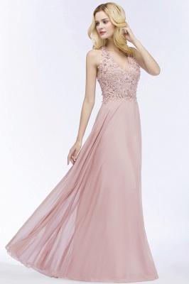 Abendkleider Lang V Ausschnitt | Abiballkleider Rosa_12