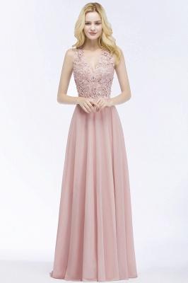 Abendkleider Lang V Ausschnitt | Abiballkleider Rosa_9