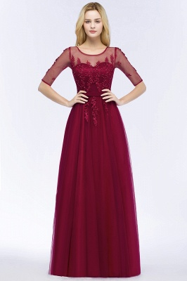 Evening dresses with sleeves | Prom dresses long cheap_3